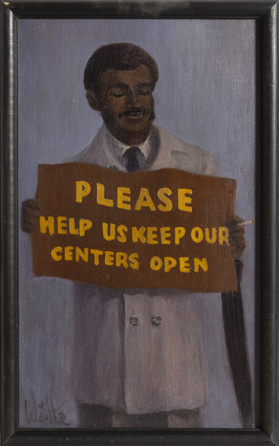 William Waithe, 'Please Keep Our Centers Open', ca. 1970, RoGallery