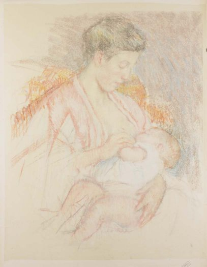 , 'Mother Jeanne Nursing Her Child (Profile Left) (No. 3),' ca. 1908, Adelson Galleries