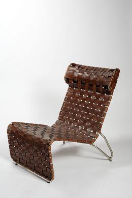 , 'Armchair in leather strips (Poltrona in strisce di cuoio),' 1936, Triennale Design Museum