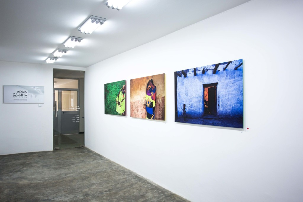 Works by Michael Tsegaye in Addis Calling Group Show