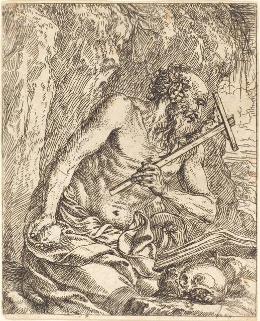 Jonas Umbach, 'Saint Jerome Penitent', Print, Etching, National Gallery of Art, Washington, D.C.