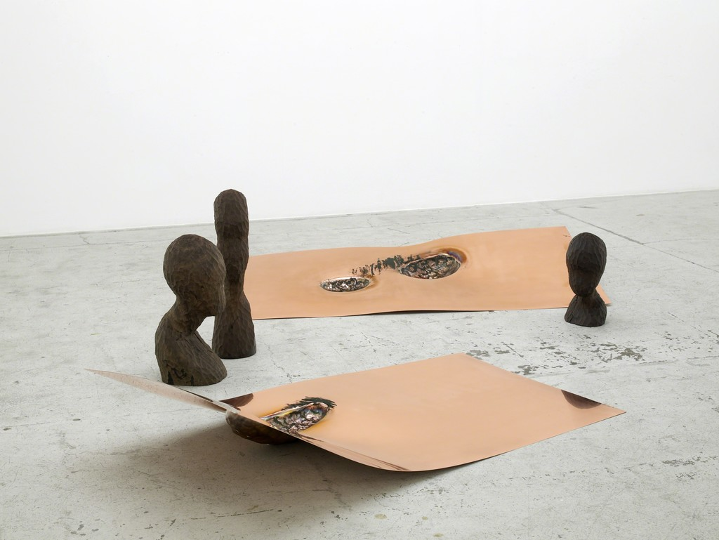 Marie Lund, Installation view, Laura Bartlett Gallery, London, 2016