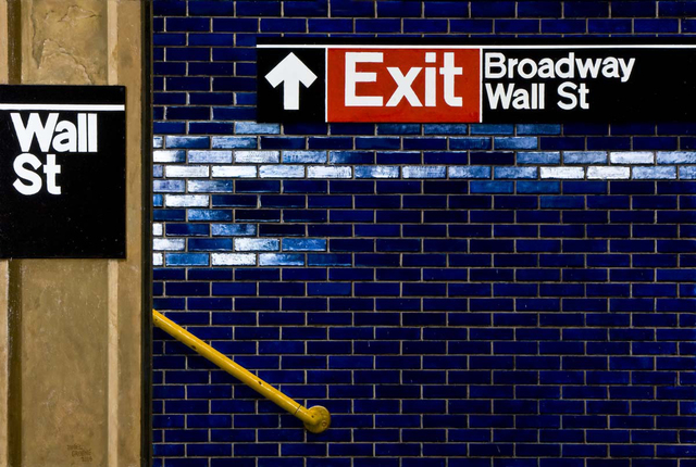 Daniel Greene, 'Wall St. - Yellow Railing', 2006, Gallery Henoch