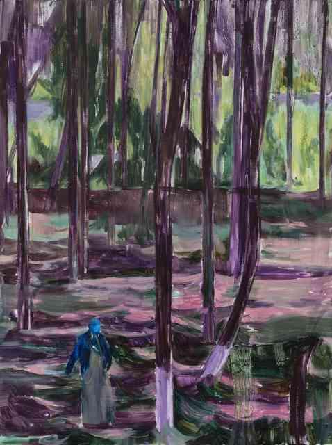 , '林中人B A Figure in the Woods B,' 2017, Matthew Liu Fine Arts