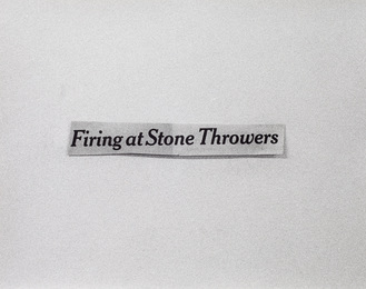 Firing at Stone Throwers