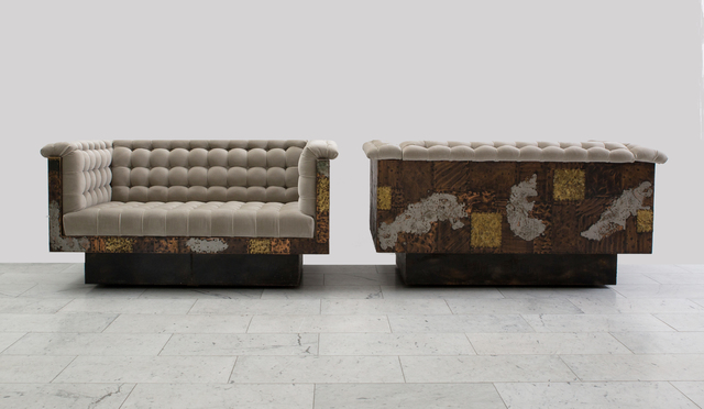 Paul Evans, 'Paul Evans Bronze, Copper, and Pewter Patchwork Settees, USA, c.1970', ca. 1970, Todd Merrill Studio