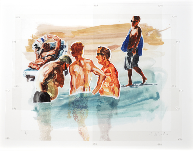 , 'Men in Water,' 2017, Adelson Galleries