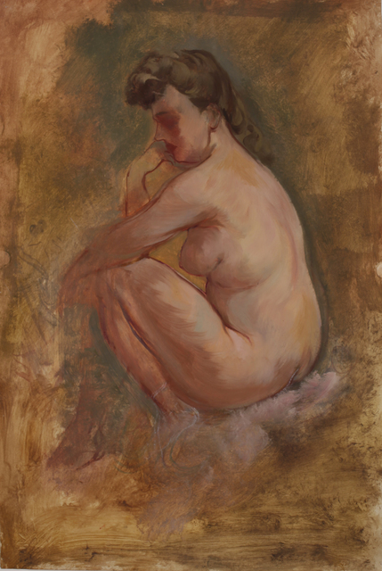 , 'Weiblicher Akt, nachdenklich sitzend,' 1939, Henze & Ketterer
