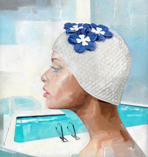 , 'Blue Flowers,' , Emillions Art