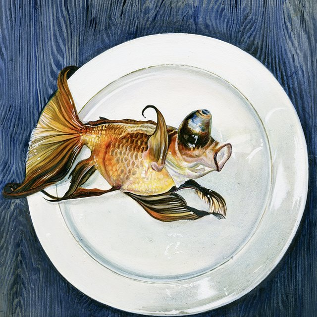 , 'Goldfish on plate,' 2013, Flowers