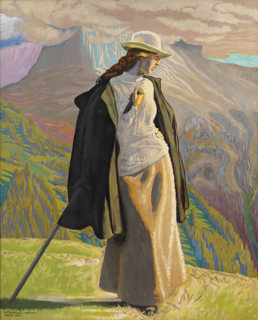 J.F. Willumsen, 'A Mountain Climber ', 1912, Painting, Oil on canvas, Statens Museum for Kunst
