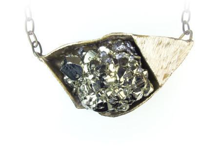 , 'Pyrite Necklace,' , form & concept