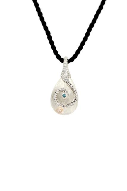 , 'Crystal Platinum Diamond Swirl Necklace,' 2018, form & concept