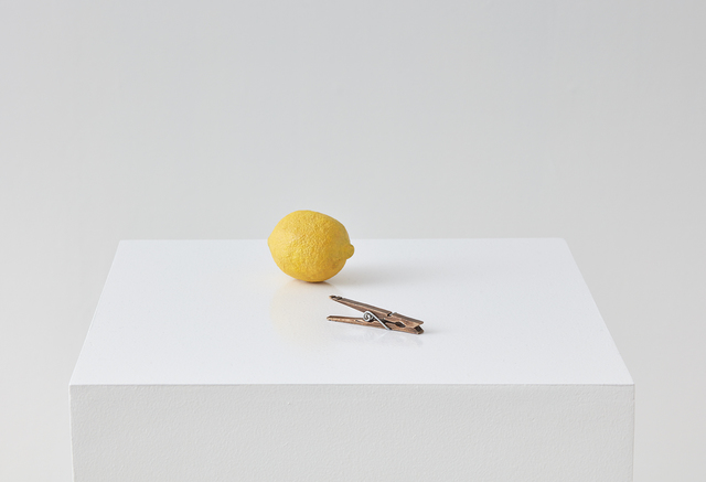 , 'lemon and clothespin,' 2015, Klowden Mann
