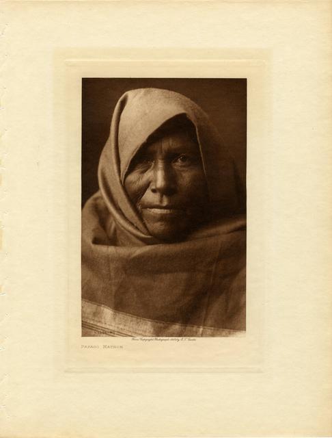 Edward Sheriff Curtis, 'Papago Matron', 1907, Etherton Gallery