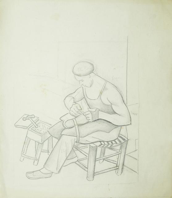 Marie Vorobieff Marevna, 'Man fixing a shoe', c.1950s, Roseberys