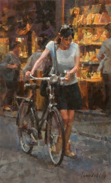 , 'Lady Walking a Bicycle (Study),' 2016, Abend Gallery