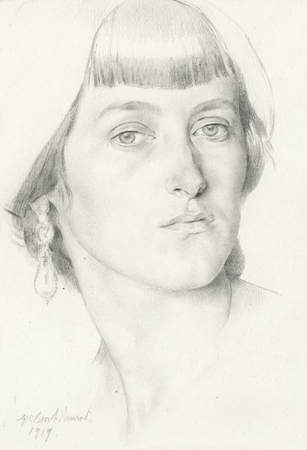 , 'Lady with Earrings,' 1919, Christopher Kingzett Fine Art