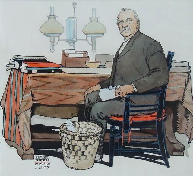 Edward Penfield, 'President Cleveland, Saturday Evening Post Cover', 1908, The Illustrated Gallery