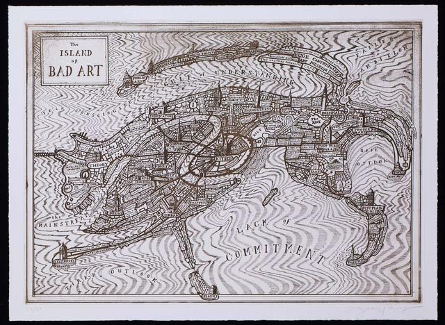 , 'The Island of Bad Art,' 2013, Galerie Maximillian