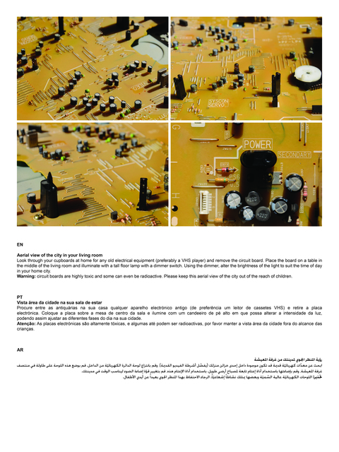 , 'Instructions to create your personal Dubai at Home,' 2013, Fonti