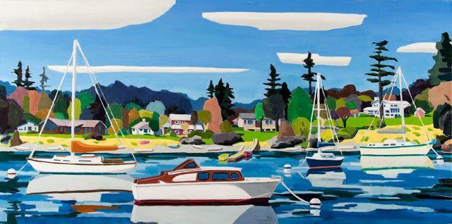 , 'Five Clouds in Friday Harbor,' 2018, WaterWorks Gallery