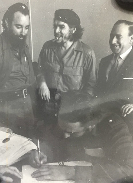 , 'Che Onlooking Fidel Signing Document,' 1960, Rebekah Jacob Gallery