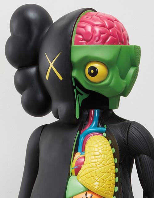 KAWS, 'Four Foot Dissected Companion (Black)', 2009, Design/Decorative Art, Painted cast vinyl, Phillips