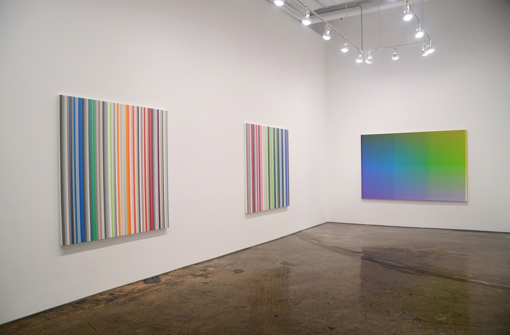 Installation view of Gabriele Evertz / Sanford Wurmfeld: Polychromy, MINUS SPACE, 2017