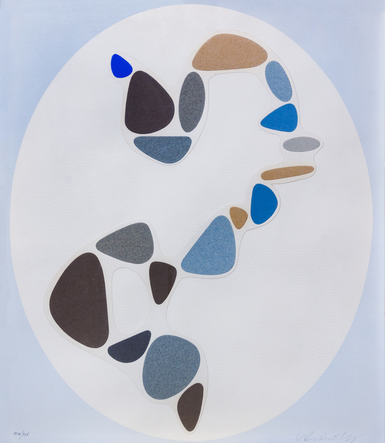 Victor Vasarely, 'Sauzon (pl. 7 from the series Le discours de la methode)', 1947/1969, Print, Silkscreen with collage, Hindman