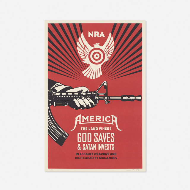 Shepard Fairey (OBEY), 'God Saves & Satan Invests', 2013, Rago/Wright