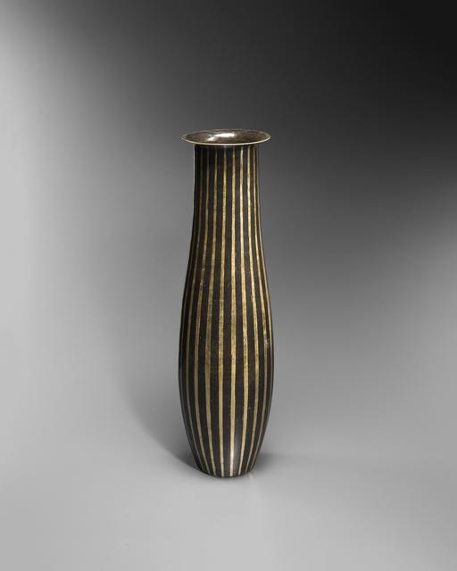 , 'Striped metal vase ,' ca. 1915, VALLOIS