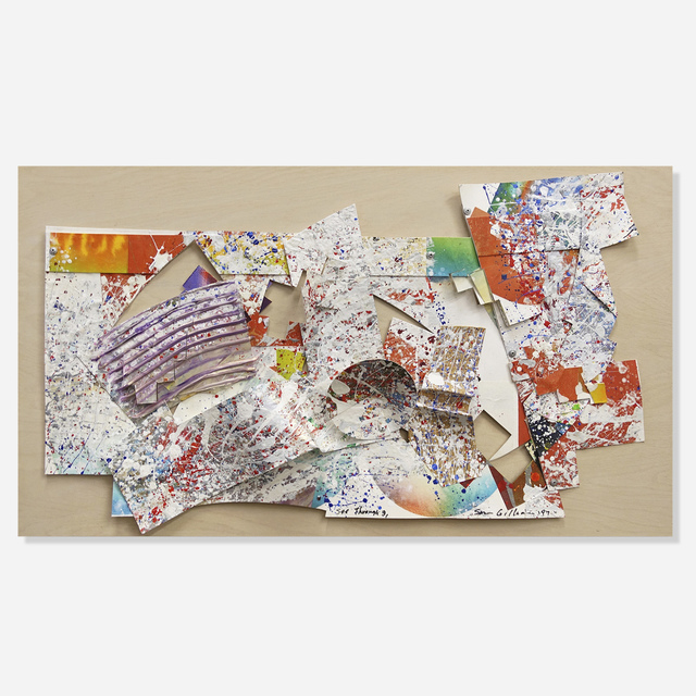 Sam Gilliam, 'See Through #3', 1997, Drawing, Collage or other Work on Paper, Oil and collage on paper, Artsy x Rago/Wright