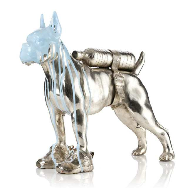 William Sweetlove, 'Cloned Bulldog with pet bottle ', 2011, Galleri GKM