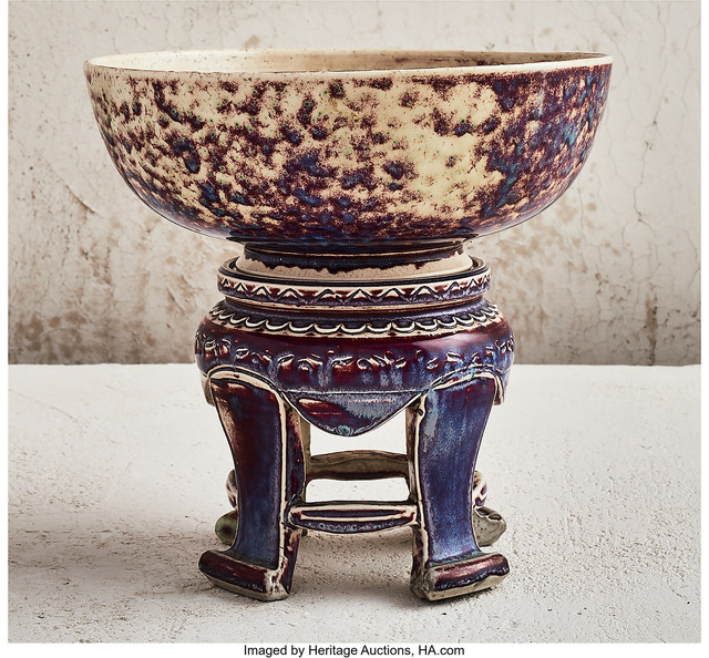 Ruskin Pottery, 'Altar Bowl and Stand', 1926, Heritage Auctions