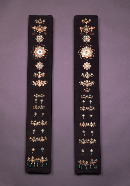 , 'Gold Dress Accessories with Precious Stone Inlays,' Tang dynasty-618–907, Art Museum of the Chinese University of Hong Kong