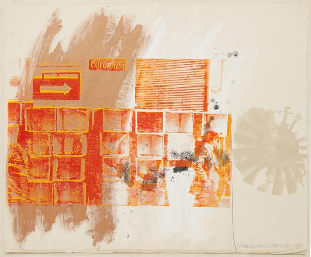 Robert Rauschenberg, 'Red Spinner', 1990, Phillips