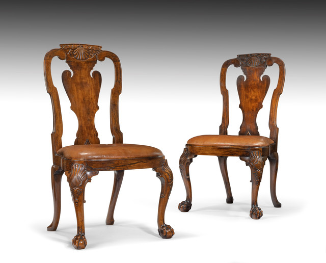 , 'Pair of Chinese Export Padouk and Huanghuali Side Chairs,' ca. 1735, Thomas Coulborn & Sons