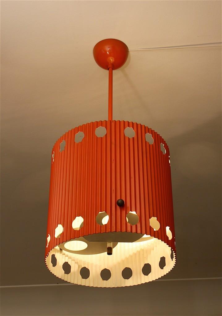 Mathieu matégot ceiling light java model 1954 galerie