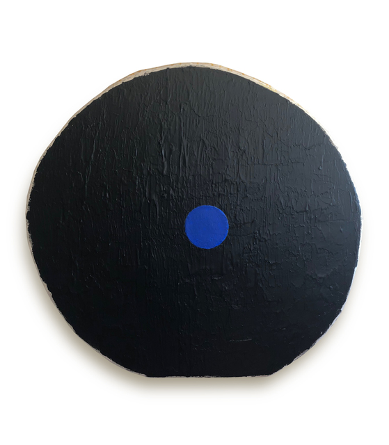 , 'Black with Blue Circle,' 2018, Marc Straus