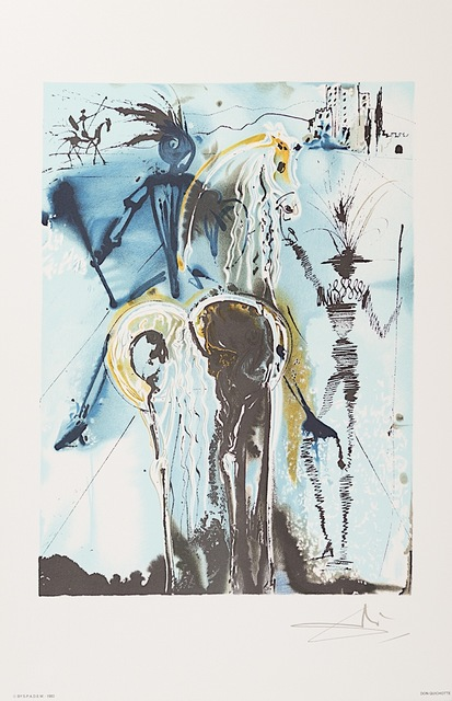 Salvador Dalí, 'Don Quichotte', 1983, Print, Lithograph on Vélin d'Arches Paper, Art Lithographies