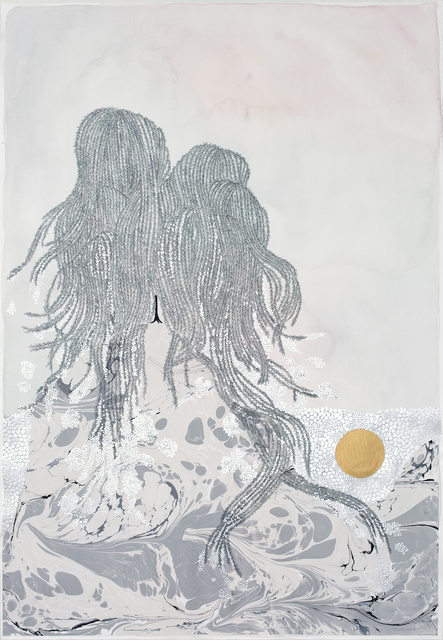 """, 'going places (weeping willows), """"stuck in between"""",' 2018, Hosfelt Gallery"""