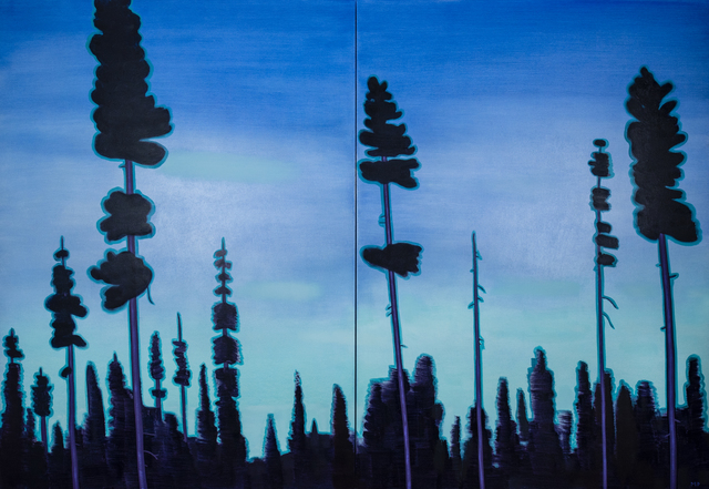 Mike Piggott, 'Purple Pines', 2018, Tayloe Piggott Gallery
