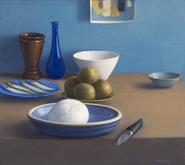 , 'Still Life with Mozzarella, Sardines and Knife,' 2012, Clark Gallery