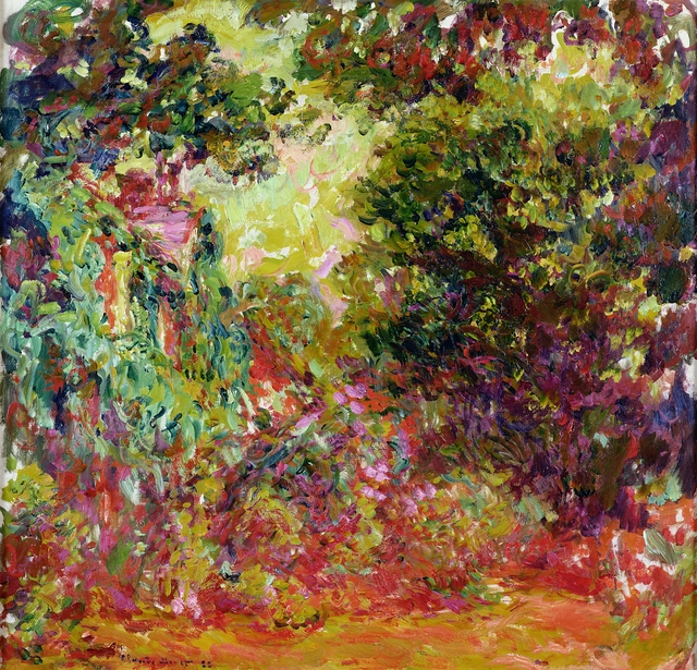 , 'The Artist's House Seen from the Rose Garden,,' 1922-1924, de Young Museum