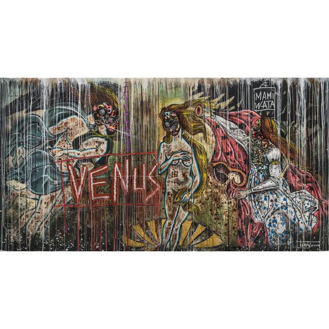 Mederic Turay, 'Mami Wata', 2016, Painting, Acrylic, oil, pastels and straws on canvas, PIASA