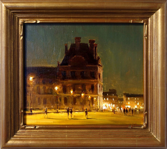 Jesse Powell, 'Night in The Tuileries Gardens', 2018, Painting, Oil on Linen, ARCADIA CONTEMPORARY