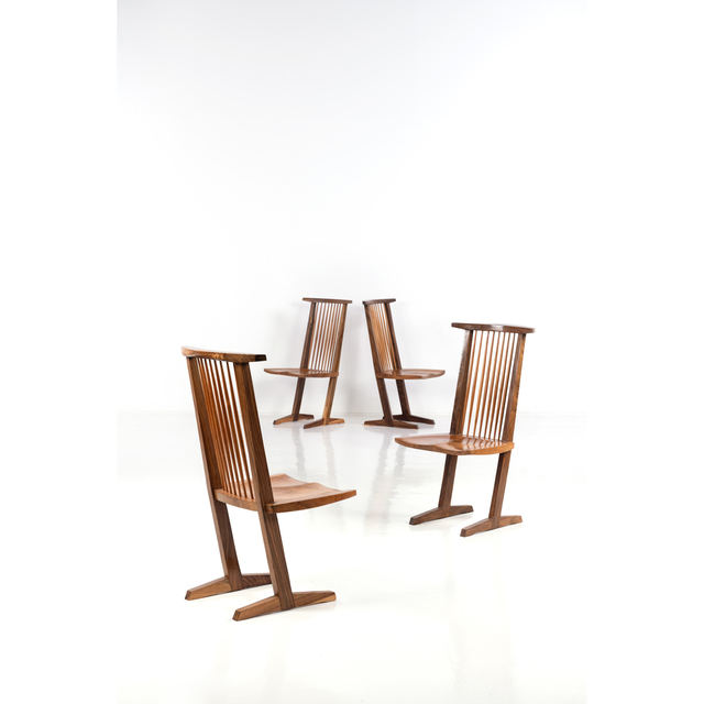 George Nakashima, 'Conoid Flesh - Set Of Four Chairs', 1960, PIASA