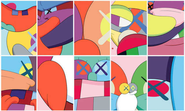 KAWS, 'No Reply (Portfolio of 10 Prints)', 2015, Print, Silkscreen, Ross+Kramer Gallery