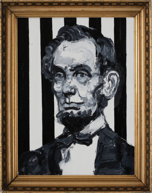 , 'Striped Pres.Lincoln ,' 2019, Madison Gallery